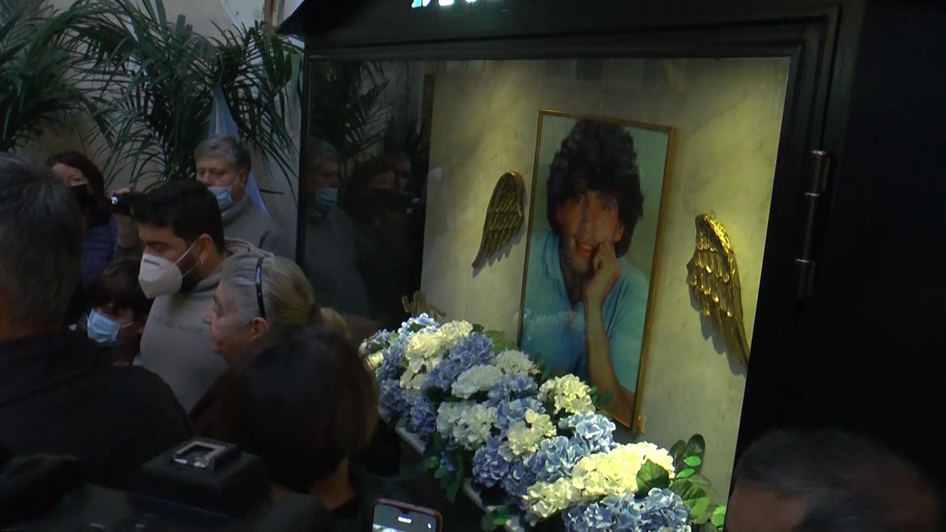 La cappella per Diego Maradona nei Quartieri Spagnoli