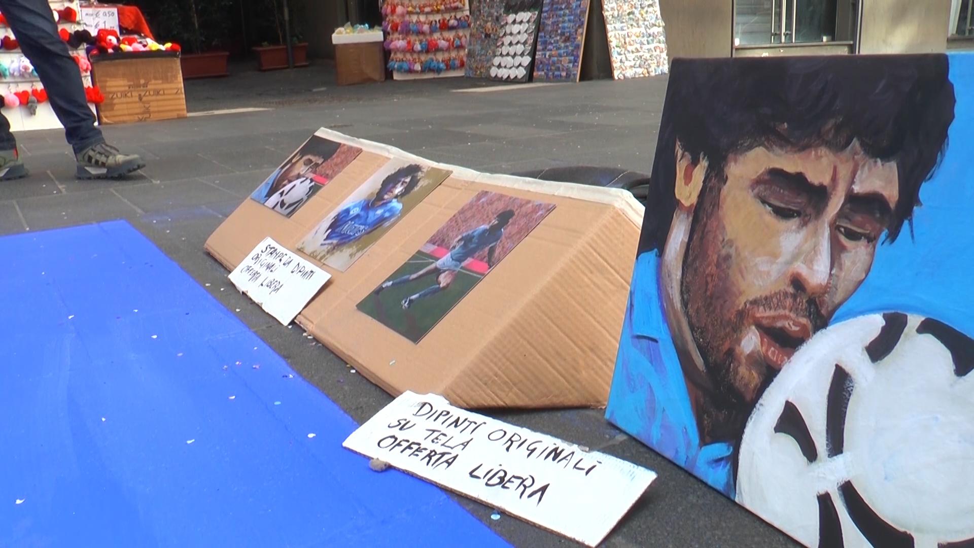 Omaggio del Madonnaro Troia a Diego Armando Maradona