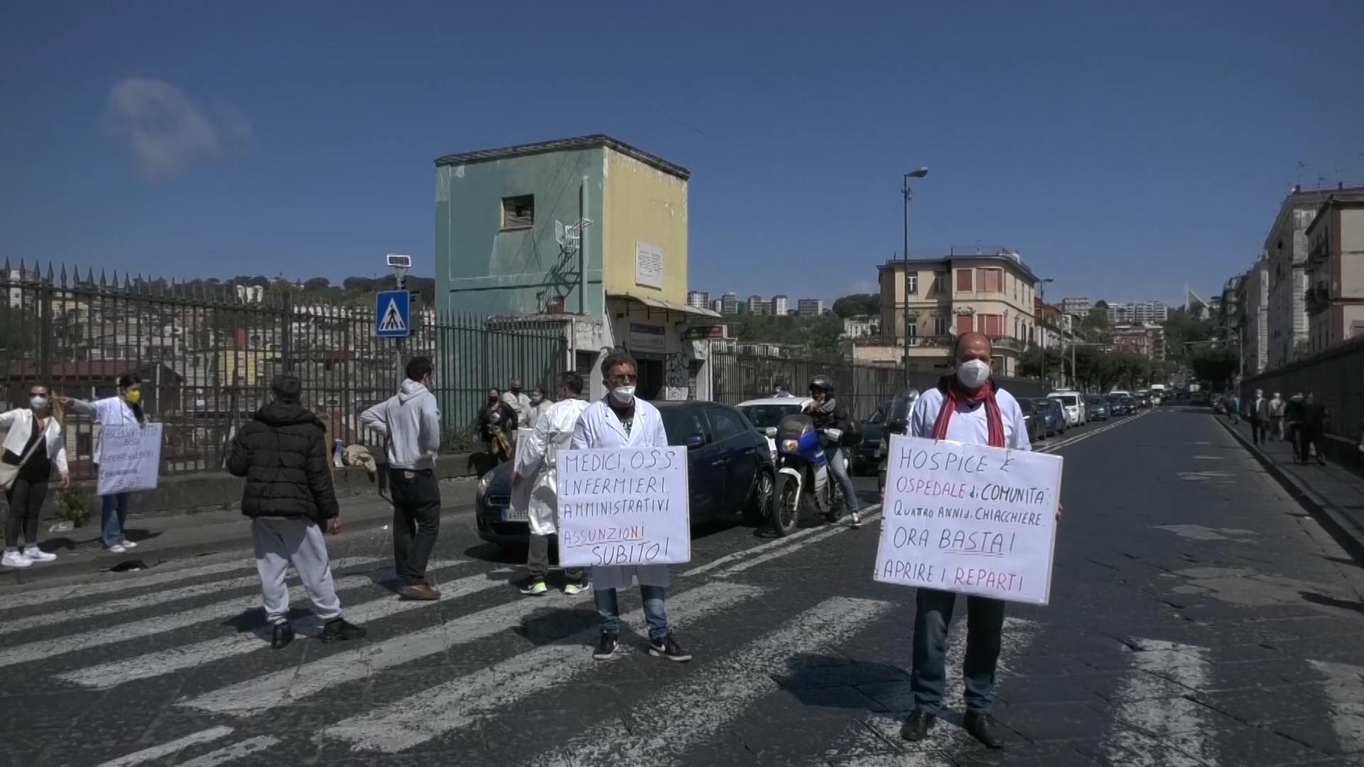 Protesta operatori San Gennaro