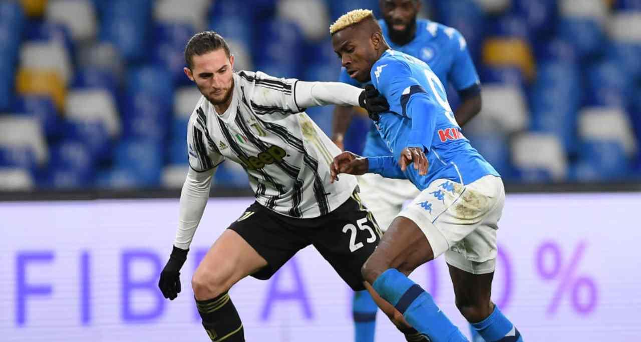 Finalmente Juventus – Napoli, le probabili formazioni. Mertens favorito su Osimhen