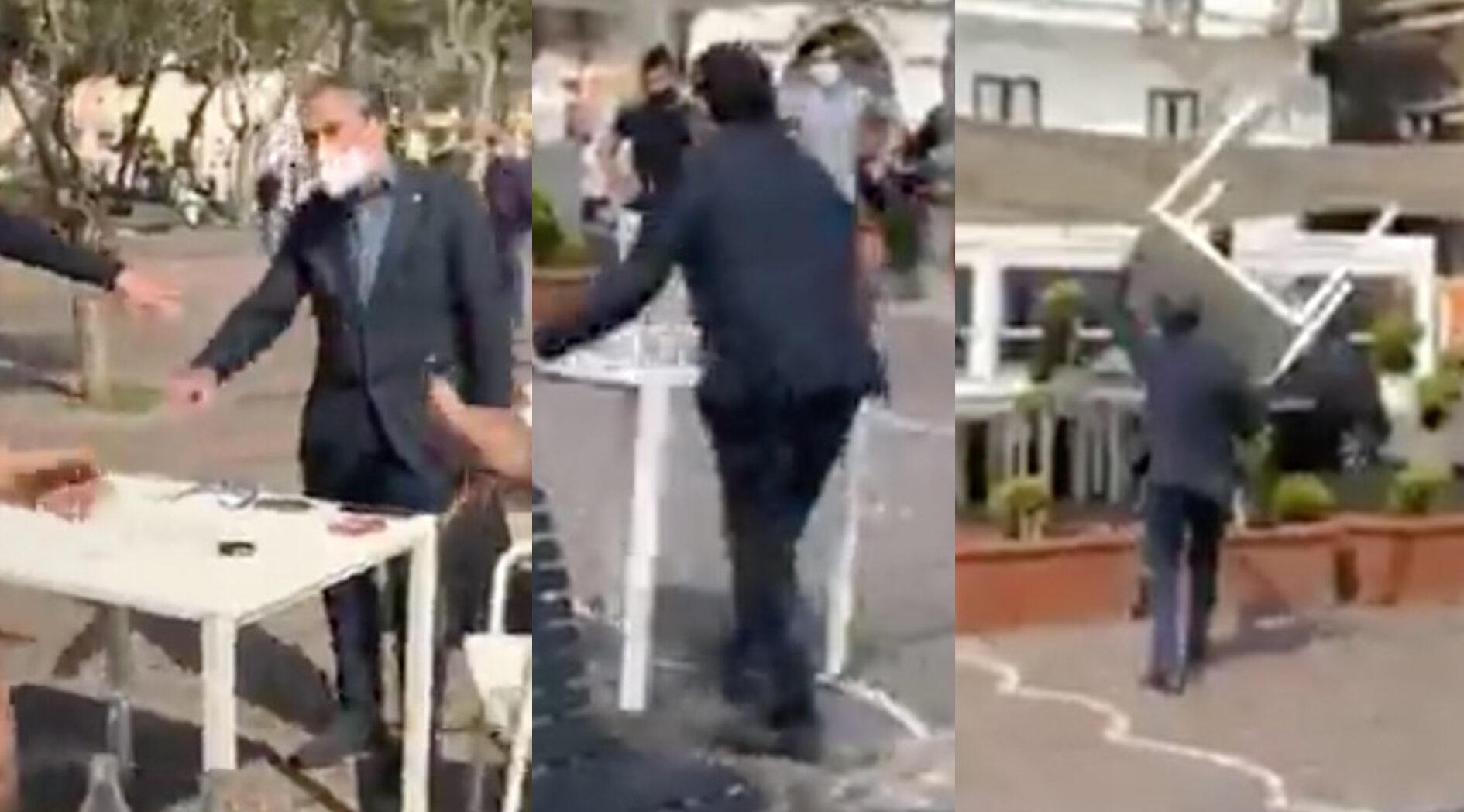 Fanno un pic-nic sul mare, il sindaco di Minori gli toglie tavoli e sedie