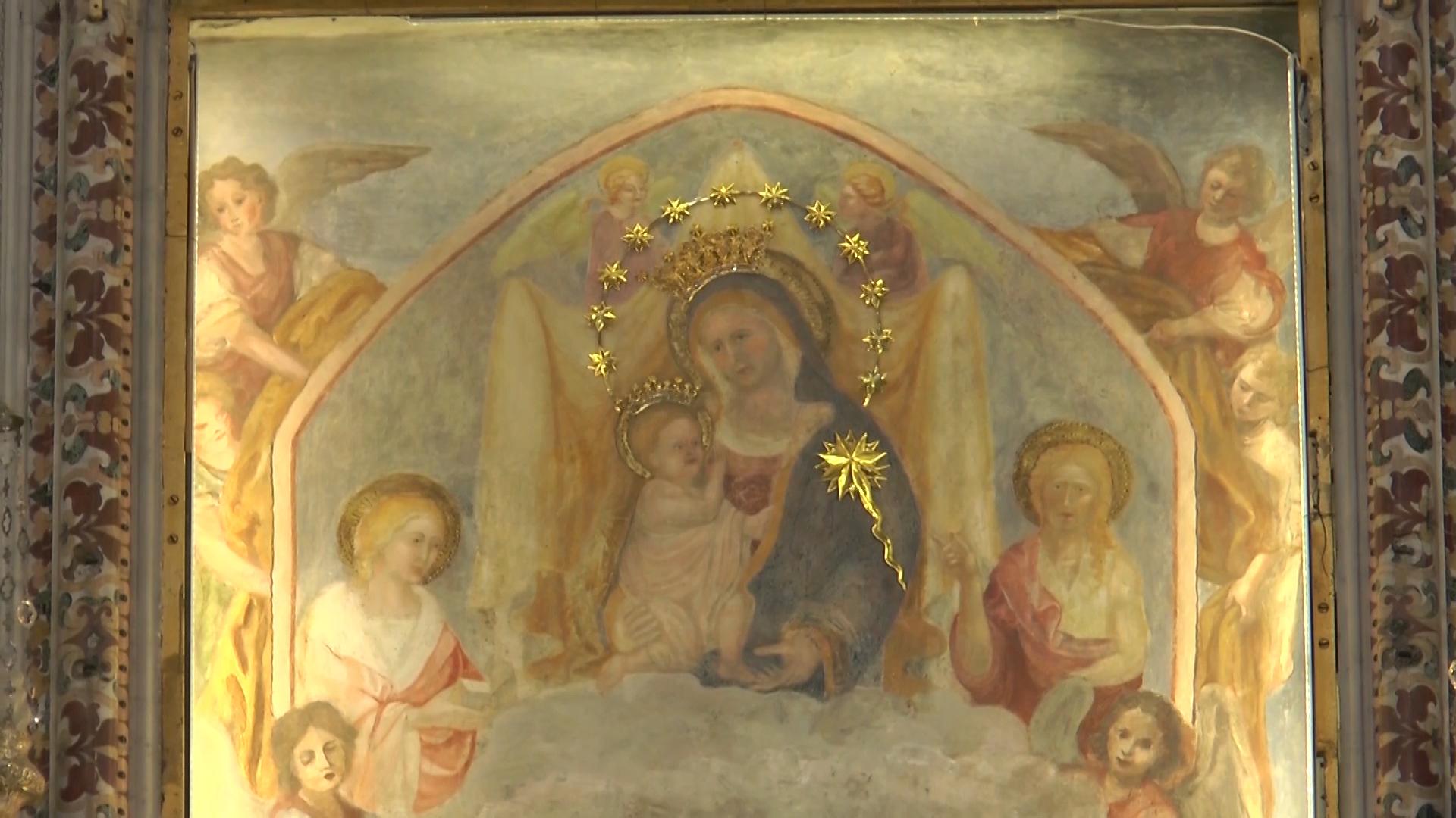 Restaurato affresco della Madonna