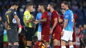 Gioca bene il#Napoli, ma le chance migliorice l'ha laRoma, sprecateda Abraham nel primo tempo e da Mancini nella ripresa